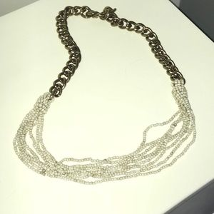 Large Beaded Detail Necklace